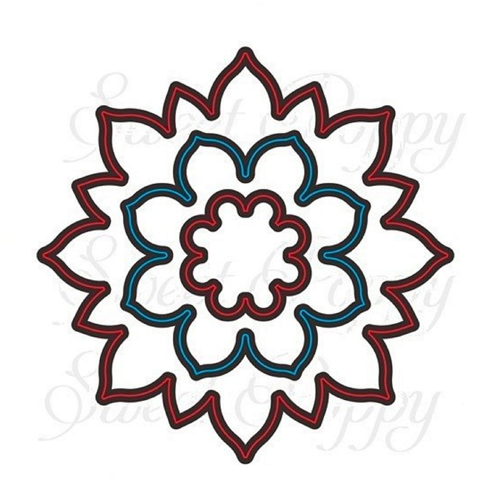 Mehndi Flower Buddy Die by Sweet Poppy