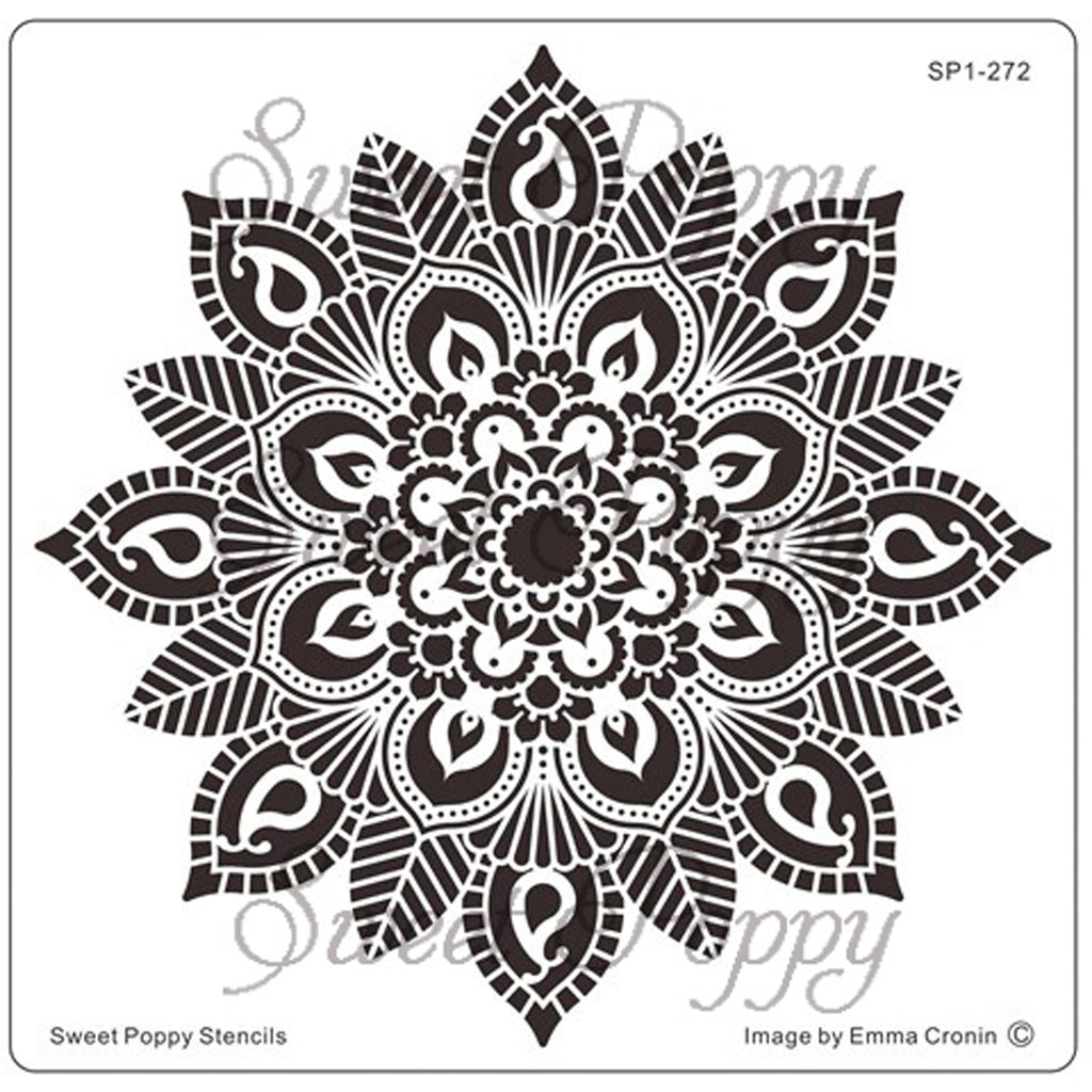Mehndi Flower Stencil by Sweet Poppy