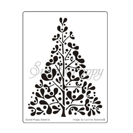 Mistletoe Tree Stencil by Sweet Poppy