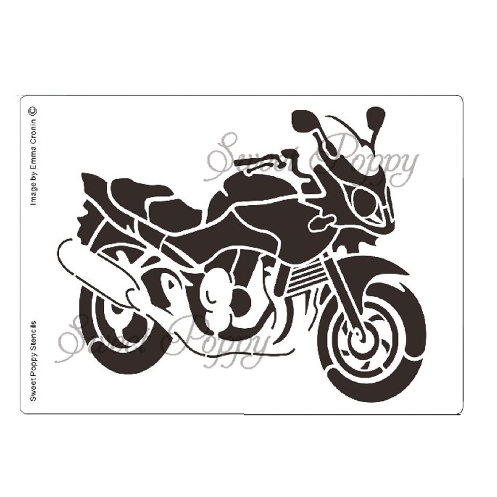 Motorbike Stencil by Sweet Poppy