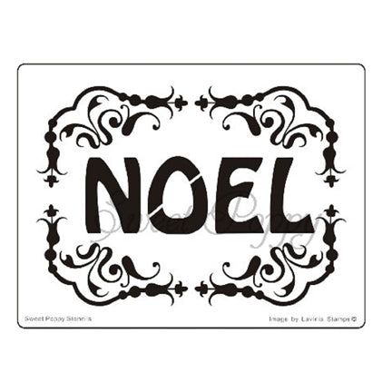 Noel Frame Stencil by Sweet Poppy