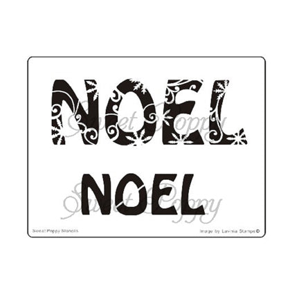 Noel Snowflake Stencil by Sweet Poppy