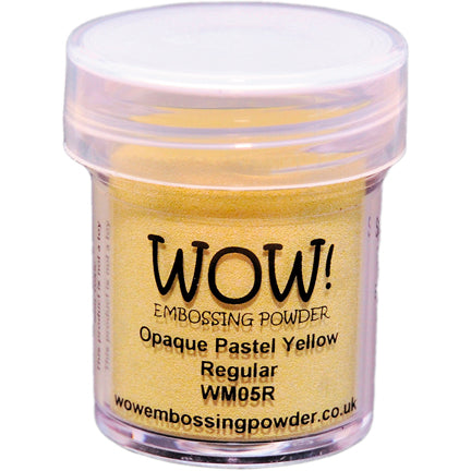 Opaque Pastel Yellow Regular Embossing Powder by WOW!