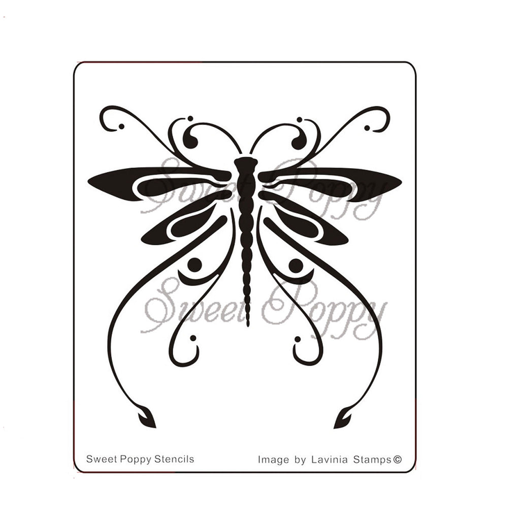 Ornate Dragonfly Stencil by Sweet Poppy