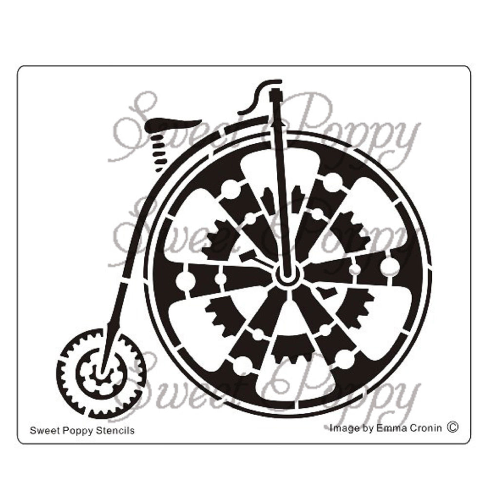 Penny Farthing Stencil by Sweet Poppy