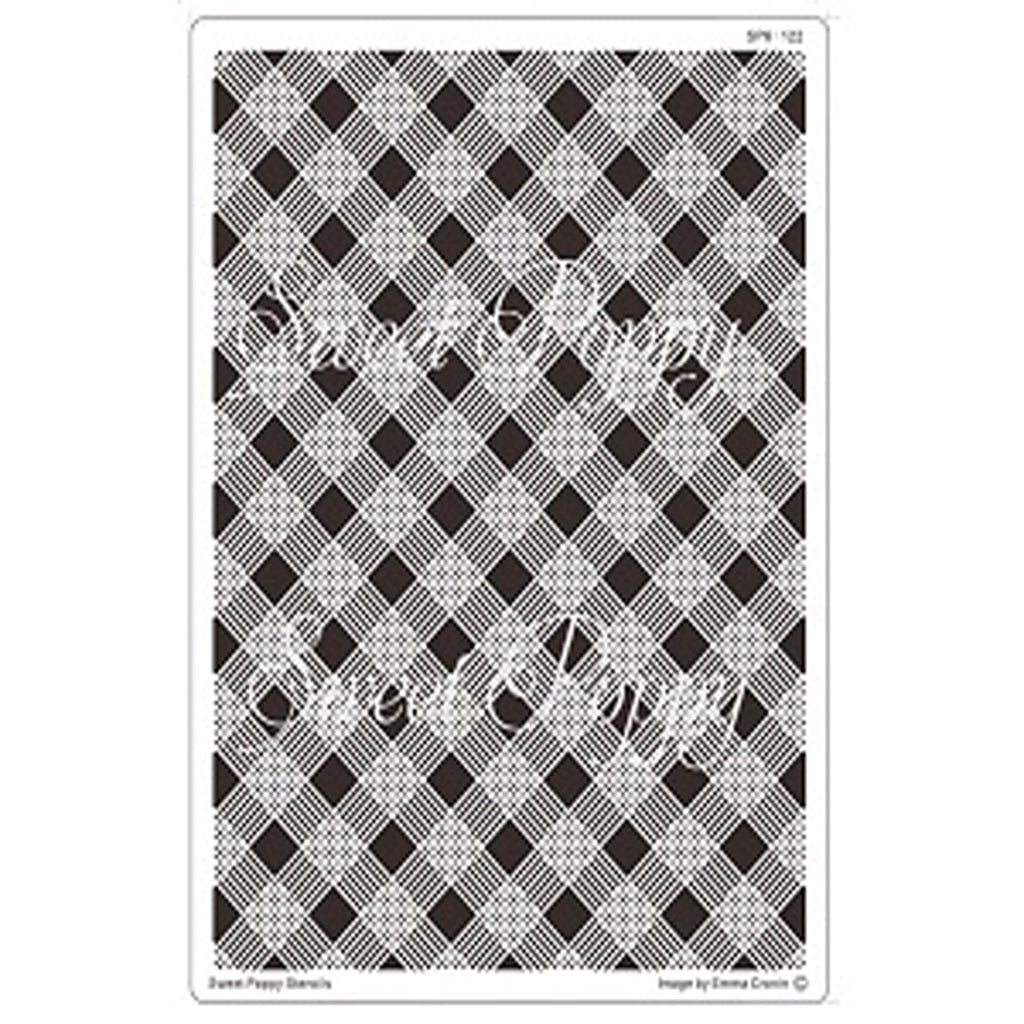 Plaid Backplate Stencil by Sweet Poppy