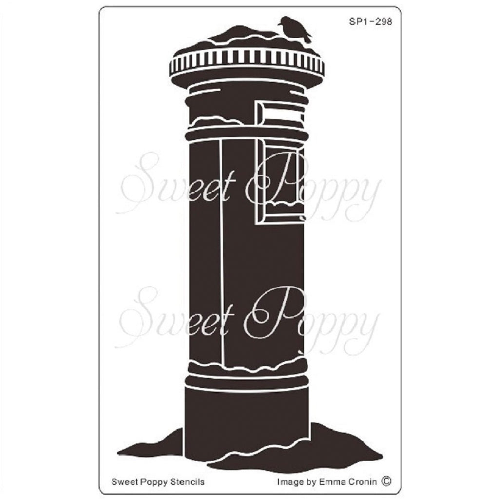 Post Box Stencil by Sweet Poppy