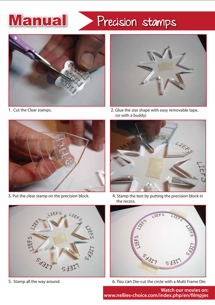 Instructions for using Precision Stamps