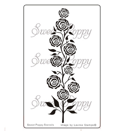 Rose Tree Stencil by Sweet Poppy