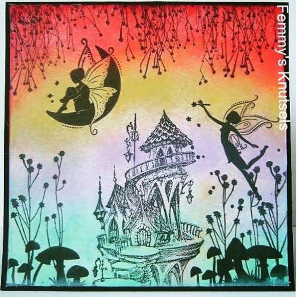 Fairy Tale Summer Castle Stamp by Nellie's Choice