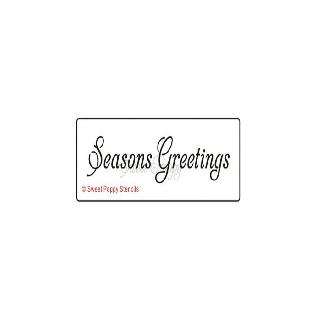 Seasons Greetings Stencil by Sweet Poppy