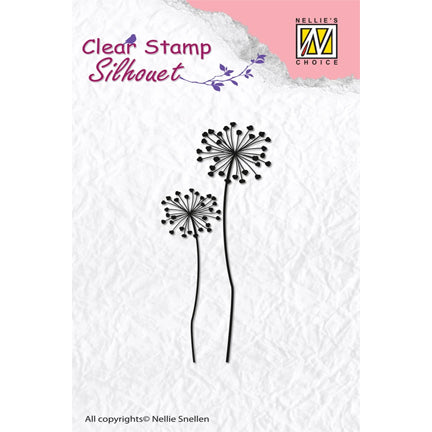 Silhouette Flower 9 Stamp by Nellie's Choice