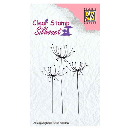 Silhouette Flower 15 Stamp by Nellie's Choice