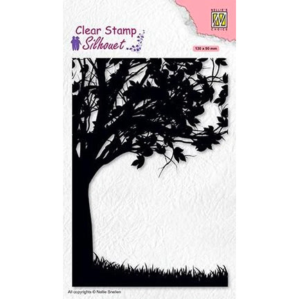 Silhouette Tree Stamp by Nellie's Choice