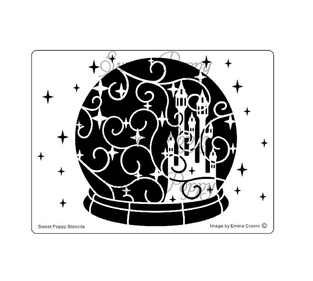 Snow Globe - Starry Keep Stencil by Sweet Poppy