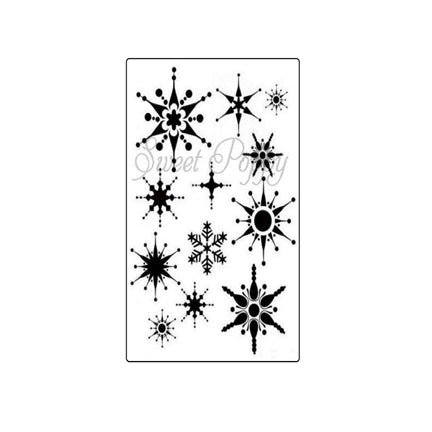 Snowflake Background Stencil by Sweet Poppy