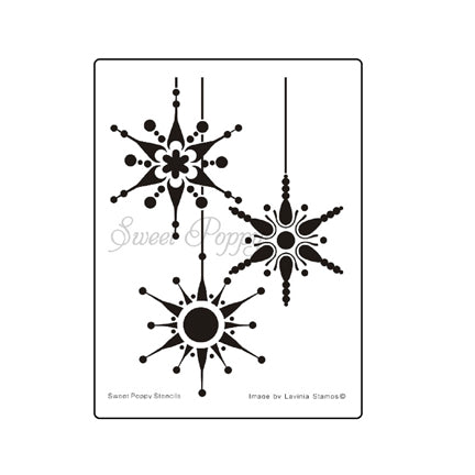 Snowflake Bauble Stencil by Sweet Poppy