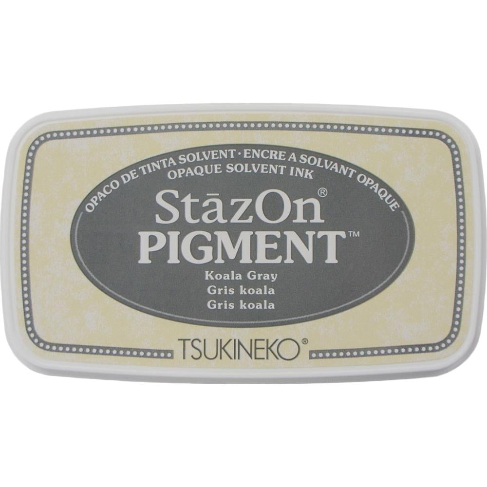 StazOn Koala Gray Full Size Pigment Ink Pad by Tsukineko SZPIG032