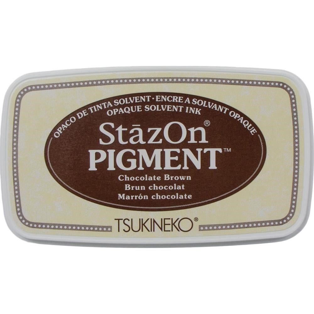 StazOn Chocolate Brown Full Size Pigment Ink Pad by Tsukineko SZPIG041