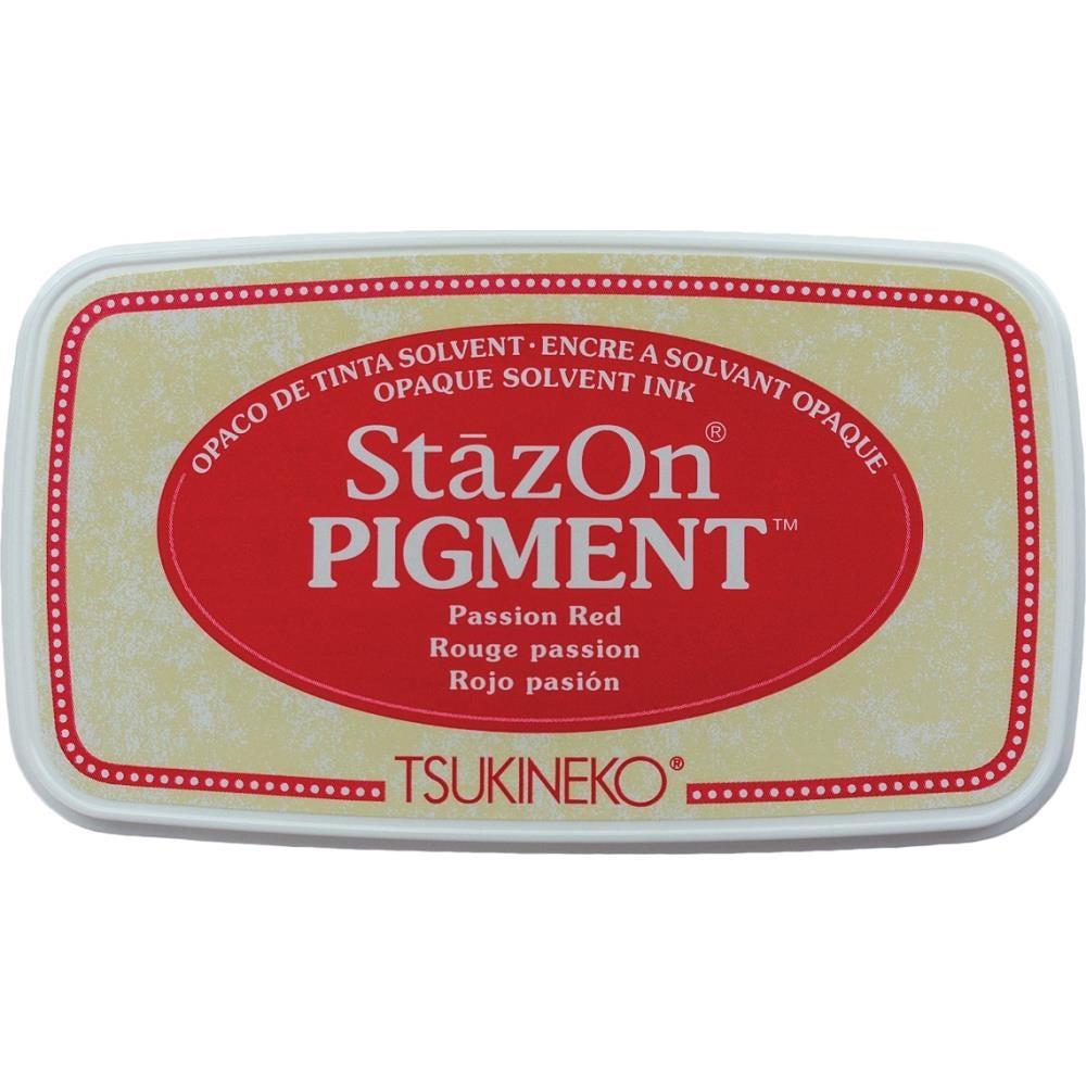 StazOn Passion Red Full Size Pigment Ink Pad by Tsukineko SZPIG021