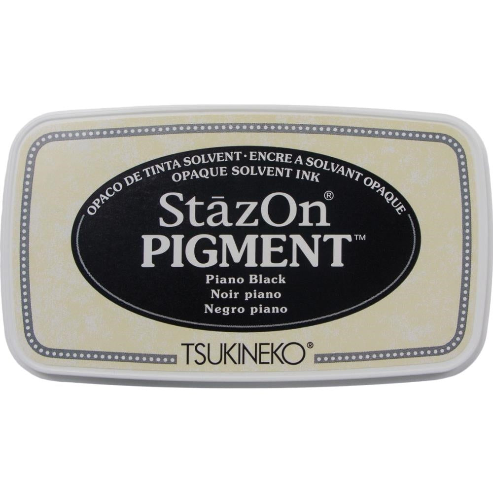 StazOn Piano Black Full Size Pigment Ink Pad by Tsukineko SZPIG031