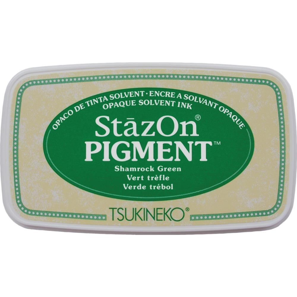 StazOn Shamrock Green Full Size Pigment Ink Pad by Tsukineko SZPIG051