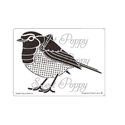 Steampunk Robin Stencil by Sweet Poppy