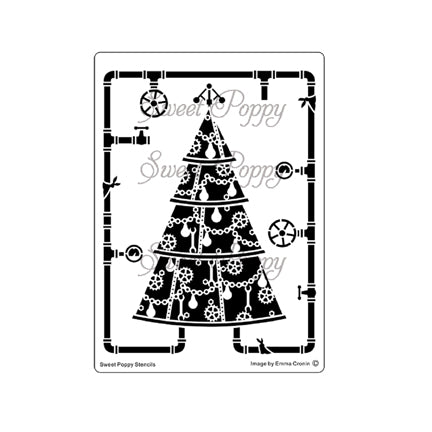 Steampunk Yule-Tool Tree Stencil by Sweet Poppy