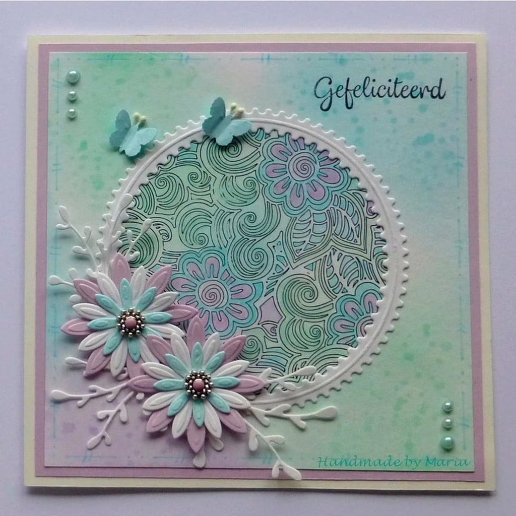 Texture Flower Power Stamp by Nellie's Choice