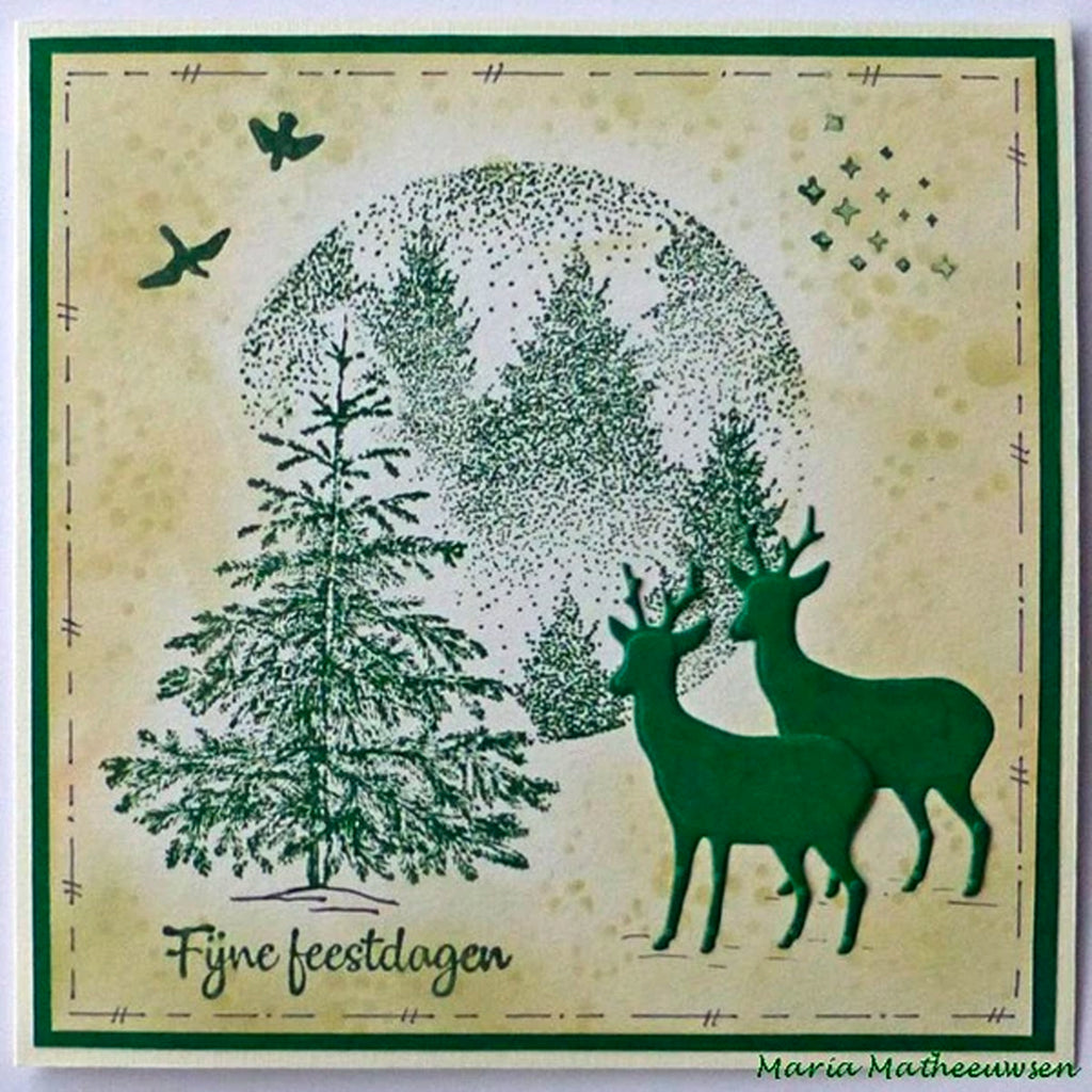 Texture Misty Forest Stamp by Nellie's Choice