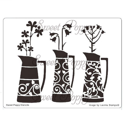 Three Vases Stencil by Sweet Poppy