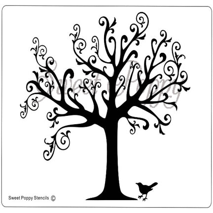 Tree Of Nature Stencil by Sweet Poppy