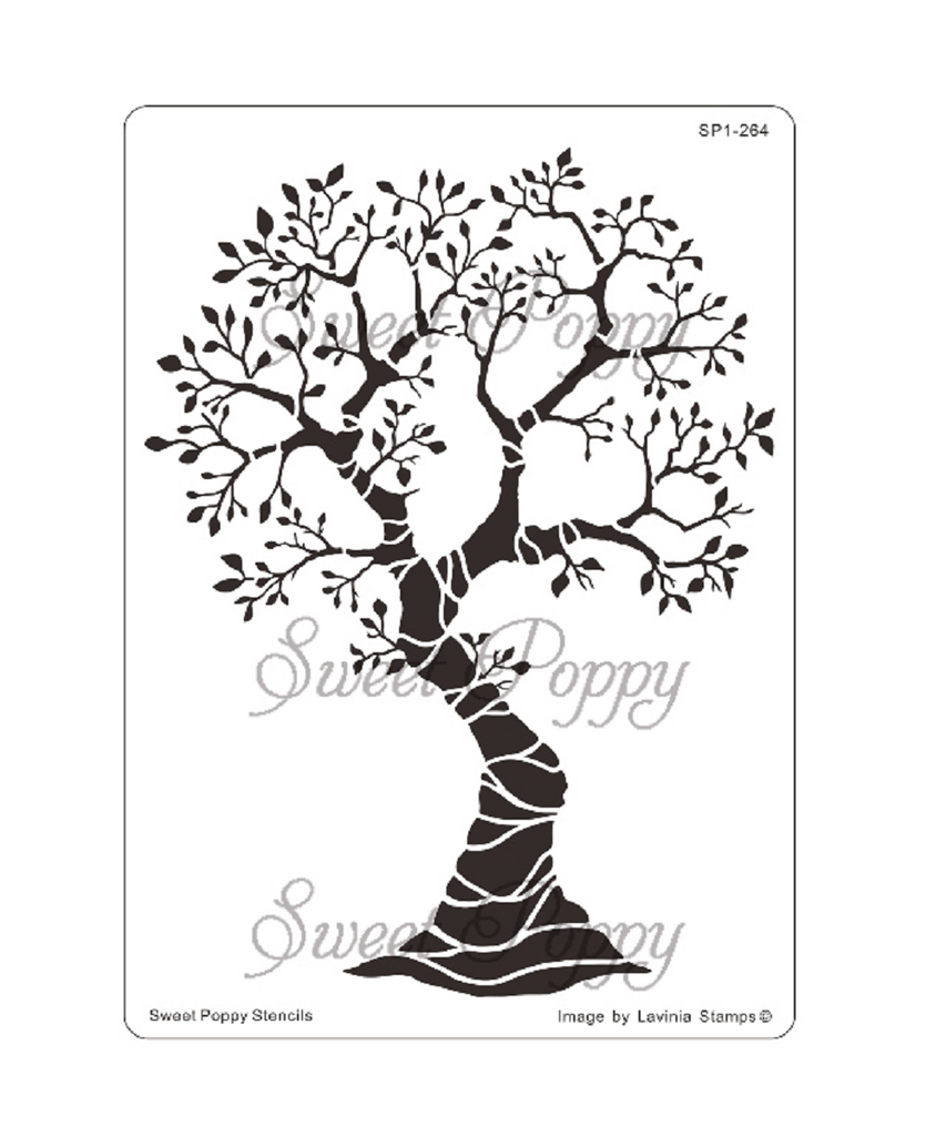 Tree of Seasons Stencil by Sweet Poppy