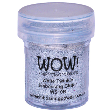 White Twinkle Glitter Embossing Powder by WOW!