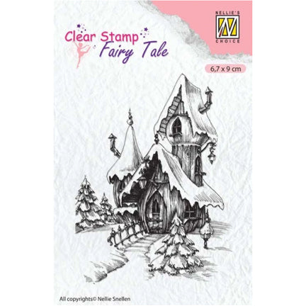 Fairy Tale Winter Castle Stamp by Nellie's Choice