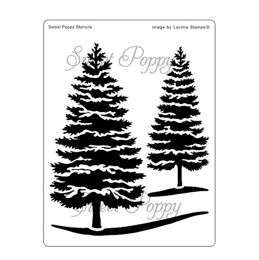 Winter Scene Stencil by Sweet Poppy