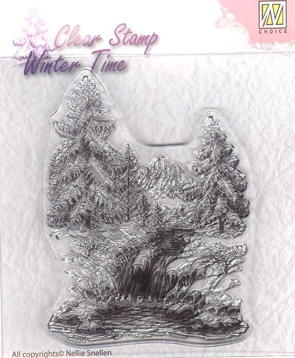 Winter Waterfall Stamp by Nellie's Choice