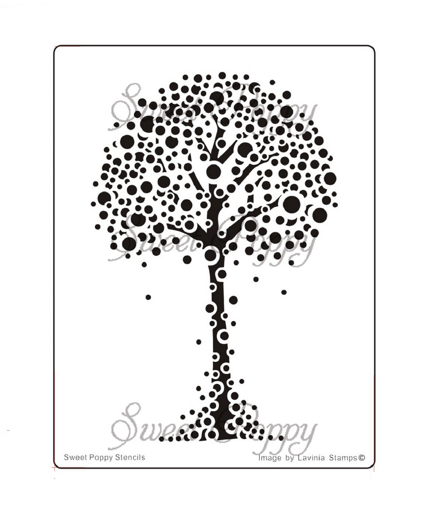 Wishing Tree Stencil by Sweet Poppy