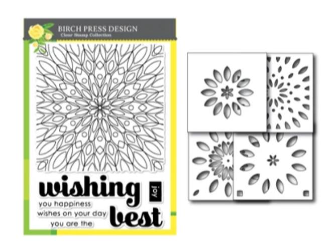 Wishing Mandala Stamp and Stencil Set by Birch Press Design available at Del Bello's Designs