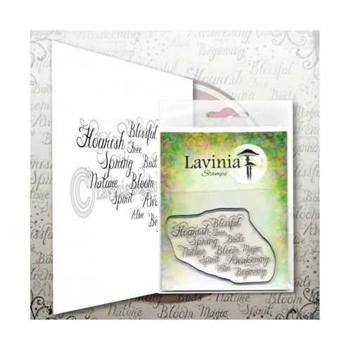 Words of Spring by Lavinia Stamps available at Del Bello's Designs