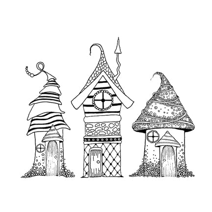 Zen Houses by Lavinia Stamps LAV326 Artist Tracey Dutton available at Del Bello's Designs