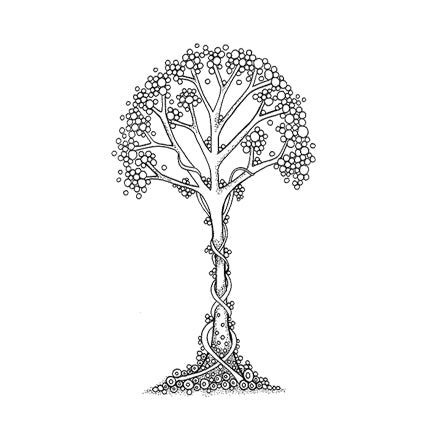 Zen Tree by Lavinia Stamps available at Del Bello's Designs