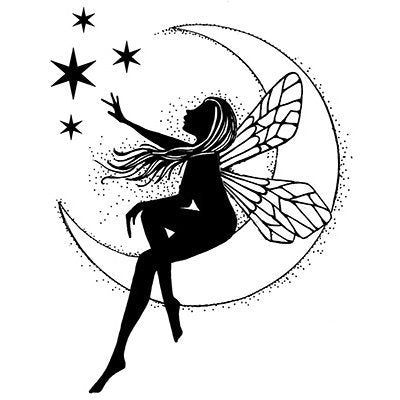 Moon Fairy by Lavinia Stamps LAV041 artist Tracey Dutton available at Del Bello's Designs