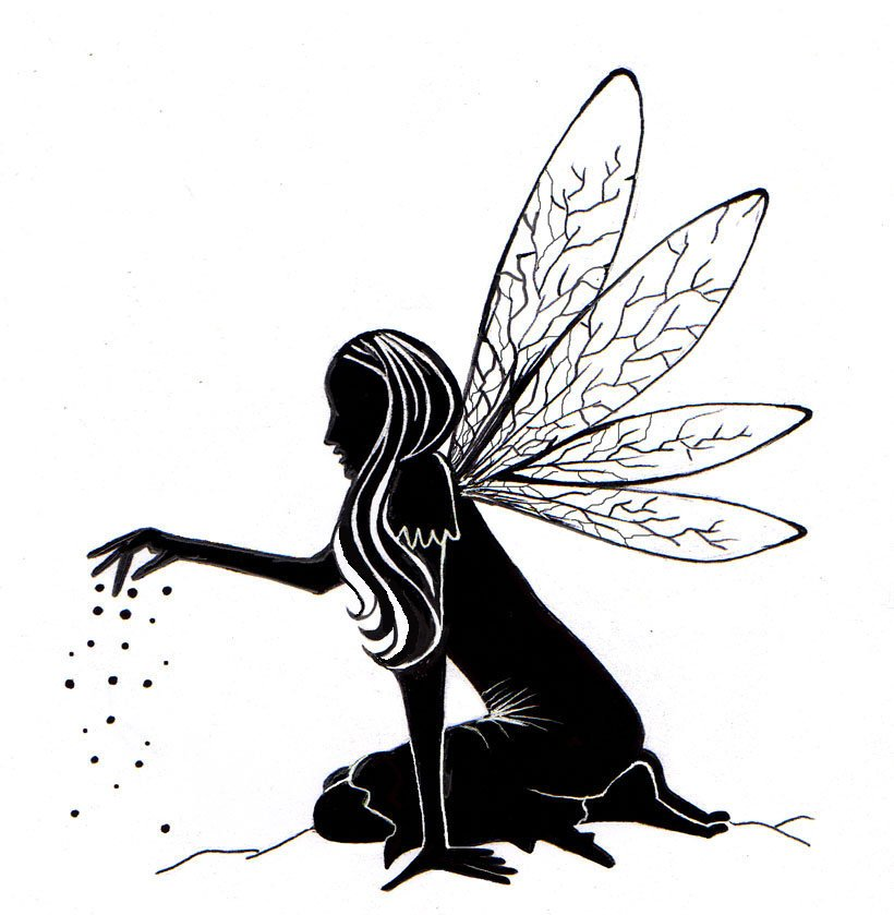 Fairy Dust Silhouette by Lavinia Stamps LAV125 Artist Tracey Dutton