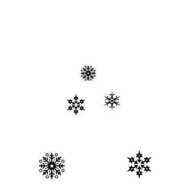 Snowflakes by Lavinia Stamps LAV206 Artist Tracey Dutton available at Del Bello's Designs