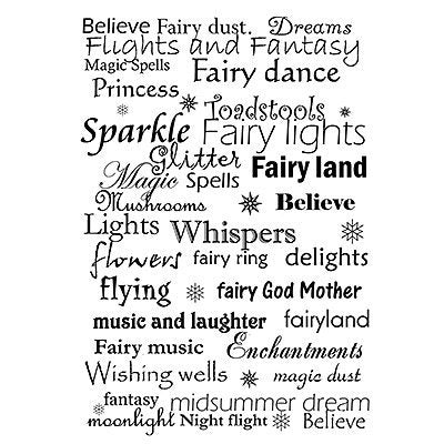 Fairy Words by Lavinia Stamps LAV025 Artist Tracey Dutton