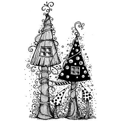 Fairy House by Lavinia Stamps LAV030 Artist Tracey Dutton