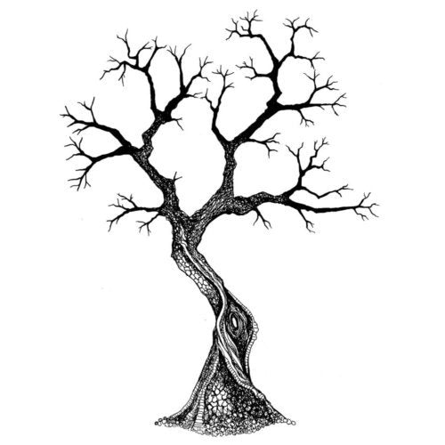 Sacred Tree by Lavinia Stamps LAV437 Artist Tracey Dutton available at Del Bello's Designs