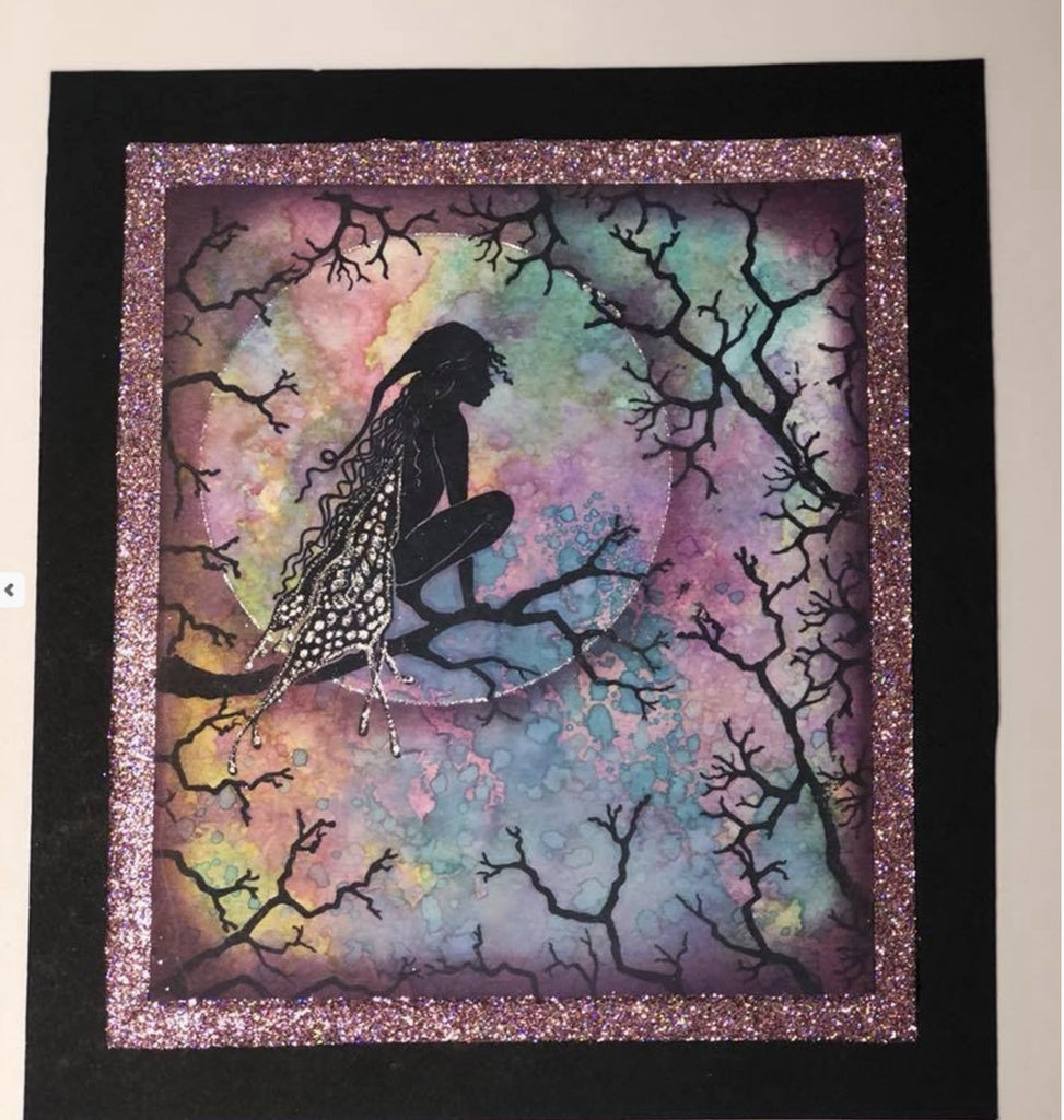 Raven by Lavinia Stamps LAV516 Artist Tracey Dutton available at Del Bello's Designs