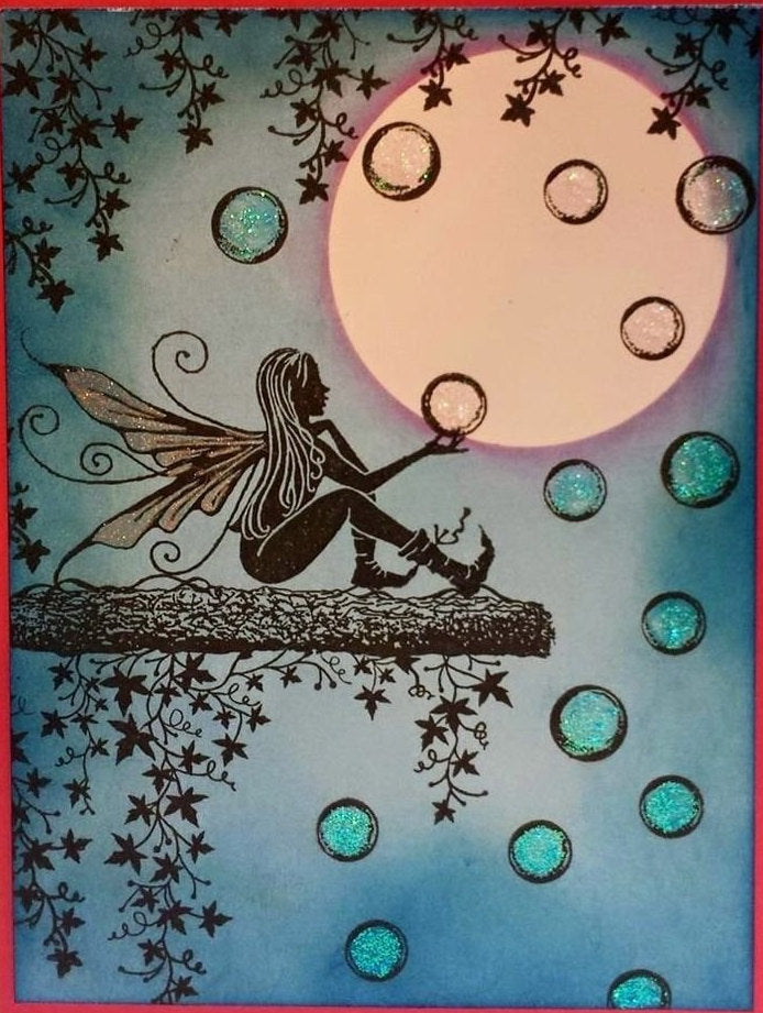 Fairy Orbs by Lavinia Stamps LAV377 Artist Tracey Dutton available at Del Bello's Designs